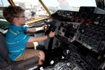 An aspiring captain takes the left seat aboard a Wisconsin ANG KC-135.